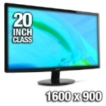 "Acer S201HL bd 20"" Widescreen LED Backlit Monitor"